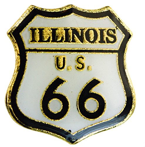 Sujak Military Items Illinois Route 66 Will Rogers Highway hat or Lapel pin AK901