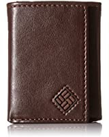 Columbia Men's RFID Leather Wallet - Big Skinny Trifold Vertical Security Protection Credit Card Slots and ID Window,Newberry Brown