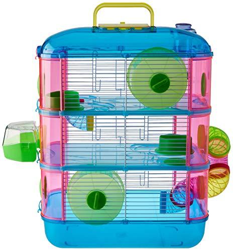 Arquivet Jaula roedores pequeños Gran Canaria - Casa para Hamsters, Ratoncillos, Animales pequeños - Plástico Resistente - Tres Pisos - 40 x 26 x 53 cm
