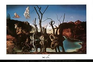 Salvador Dali - Swans Reflecting Elephants Art Print Poster - 36x24 by Poster Revolution