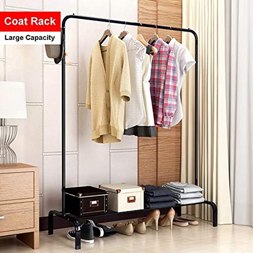 CosyHome-US Clothing Garment Rack Heavy Duty Commercial Grade Clothes Stand Rack with Top Rod and Lower Storage Shelf for Boxes Shoes Boots /46.1 x 18.1 x 59.6 inches