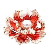 ZorYer Broches,Broches de peonía de Esmalte, 7 Colores Disponibles para Mujeres Broche Grande de Flores de Boda Broches Abrigo Regalo A
