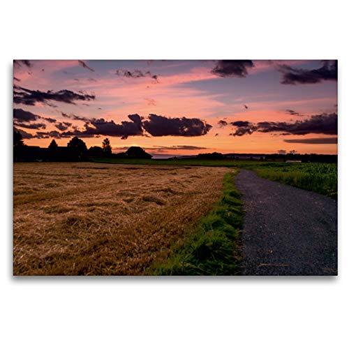 CALVENDO Premium Textil-Leinwand 120 x 80 cm Quer-Format Letztes Tageslicht bei Niederbottigen, Leinwanddruck von Thomas Wahli