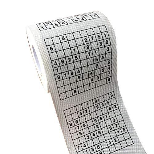 Mikely store Nuevo rollo de papel higiénico papel de dinero tejido novedad regalo dólar rollo divertido papel higiénico (tamaño único, juego A-Sudoku)