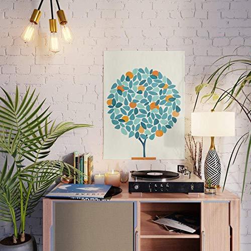 N / A Póster de Arte de Pared, Cuadros modulares de árbol de Naranja, huerto, Pintura en Lienzo Minimalista Impresa en HD para Sala de estar-40cmx60cm Sin Marco