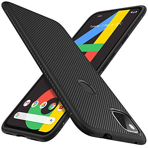 C'iBetter Kompatibel mit Google Pixel 4a Hülle, Ultra Thin Silikon hülle Stoßfest Hülle Handyhülle Schutzhülle Shock Absorption Backcover passt Kompatibel mit Google Pixel 4a Smartphone,Schwarz