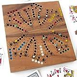 Juego de TOC a 6 colores - Tock de 2 a 6 jugadores, juego de mesa familiar, madera maciza eco-responsable, marca francesa Le Délirant® – Normas CE – Juegos de viaje