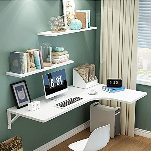 Mesa plegable de esquina para pared para el hogar, mesa de comedor, mesa de estudio, mesa de estudio, mesa de hojas y ahorro de espacio, multicolor, 5 opciones de color: A_110 x 60 x 40 cm