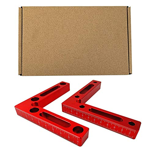 Suppyfly Positioning Houtbewerking timmerman gereedschap rechte hoek klem hoek L-Square one size 2pcs with box
