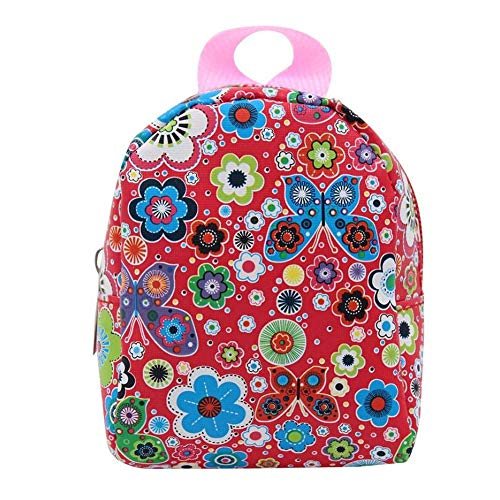 ZIYUMI 18 Inch Doll Accessories Cute Mini Bags Backpack Schoolbag For 18 Inch American Girl Dolls (Red Butterfly Floral)