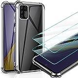 AROYI Funda Compatible con Samsung Galaxy A51 4G (No Aplica Samsung Galaxy A51 5G) y 2 Pack Cristal Templado Transparente Protector Case