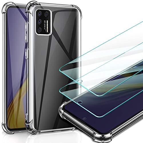 AROYI Funda Compatible con Samsung Galaxy A51 y 2 Pack Cristal Templado Transparente Protector Case
