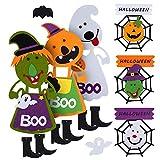 Adornos/decoración de Halloween de fieltro para colgar, diseños de calabaza, fantasma, bruja,...