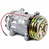 AC Compressor & A/C Clutch For Chevy GMC Ford Dodge Winnebago RV Motorhome & Peterbilt Replaces Sanden SD709 7402 - BuyAutoParts 60-01607NA New