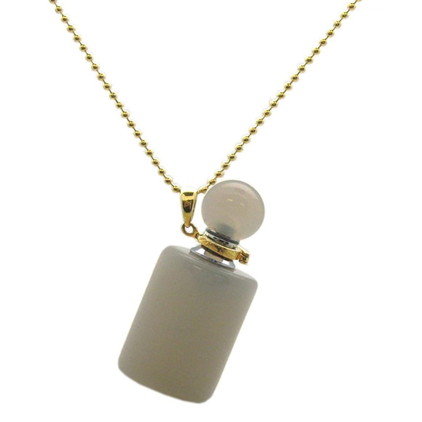 一月アデレードチケットケイトAvenue Gold over Sterling Silver Gemstone Aromatherapy Essential Oil Diffuserネックレス、香水とMosquito Repellentネックレス( 18、grey-agate )