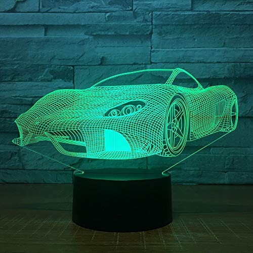Only 1 Piece Sports car led Light 7 Color Remote Control Touch Night Light Creative Birthday Gift 3D led Light