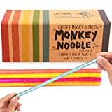 IMPRESA 5-Pack Glitter Monkey Noodle Stretchy String Fidget / Sensory Toys (BPA/Phthalate/Latex-Free) - Stretches from 10 Inches to 8 Feet!