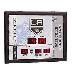 Team Sports America Los Angeles Kings Bluetooth Scoreboard Wall Clock