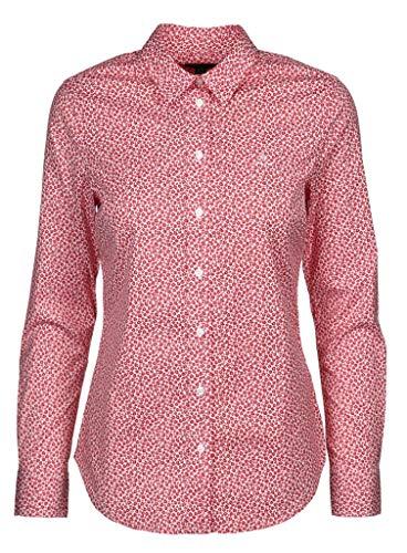 GANT Damen Bluse mit Micro Floraldruck Größe 38 EU Rot (rot)