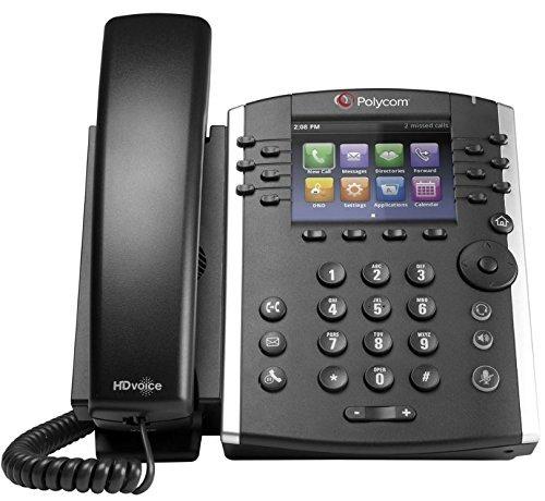 Polycom VVX 400 Series Business Media Phone POE (Power Supply Included) (Renewed)