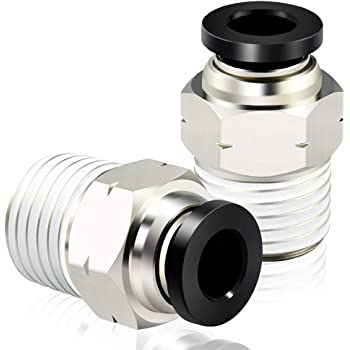 """2 Pack Numatics 1//4/"""" OD Push To Connect X 1//4/"""" Female NPT Straight Connectors"""