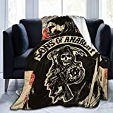 Big Big Beauty Sons of Ana-rchy Ultra-Soft Breathable Flannel Throw Blanket,80'' x60