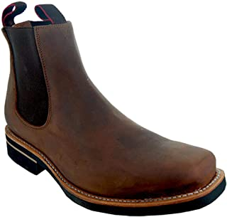 Mens Square Toe Chelsea Boots H6003