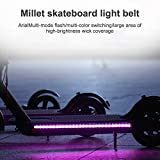 Phonleya Electric Scooter Led Strip Light - Night Cycling Waterproof Foldable Safety Skateboard Decorative Colour Lamp for Xiaomi M365/pro/ninebot