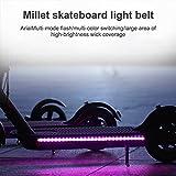 Wovatech Luces de Tira LED para Scooter eléctrico - Luz Decorativa de Seguridad Plegable Impermeable para Xiaomi M365 - Lámpara de marquesinas de Ciclismo de Noche Colorida iluminada