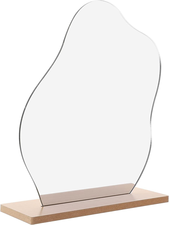 VOSAREA Irregular Aesthetic Vanity New sales Max 54% OFF Frameless Mirror Table Decora
