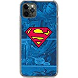 Skinit Clear Phone Case for iPhone 11 Pro Max - Officially Licensed Warner Bros Superman Logo Design