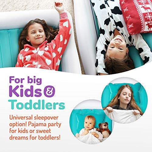 Toddler and Kids Travel Bed Air Mattress with Extra Tall Safety Bumpers