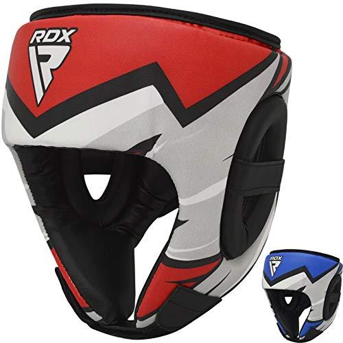 RDX Kopfschutz Kinder für Kickboxen, MMA Training, Junior Maya Hide Leder Kopfschützer für Sparring, Boxhelm für, Muay Thai, Boxen, Karate und Taekwondo Headgear (MEHRWEG)