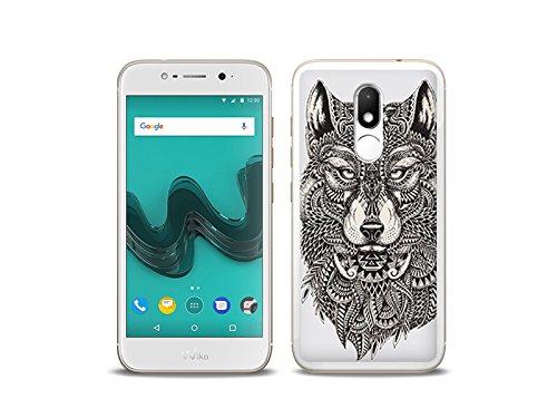 etuo Handyhülle für Wiko WIM Lite - Hülle Fantastic Hülle - Azteken Wolf - Handyhülle Schutzhülle Etui Hülle Cover Tasche für Handy