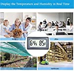 Veanic 4-pack mini digital thermometer hygrometer meters gauge indoor large number display temperature fahrenheit… 9 mini digital humidity thermometer allows you to easily know the environment temperature and humidity around you 2in1 meter with built-in probe; digital electronic thermometer and hygrometer for measuring temperature and humidity for indoor use fahrenheit (℉) display, this thermometer displays temperature in fahrenheit