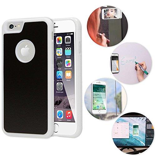 NALIA Antigravità Custodia compatibile con iPhone 6 6S, Protezione Ultra-Slim Anti-Gravity Selfie-Case Magica Auto-Adesivo Cellulare Cover Protettiva Telefono Bumper Sottile, Colore:Bianco