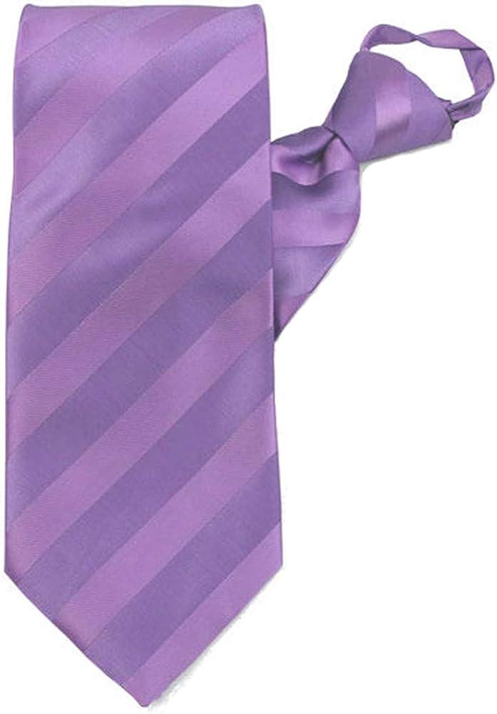 Jacob Alexander Men's Stripe Tonal Zipper Neck Tie