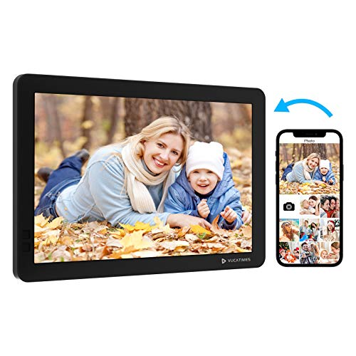 WiFi Digital Picture Frame 10.1 Inch, VUCATIMES Smart Digital Photo Frames Instantly Share Photo Video Via App Anywhere, Slideshow, Motion Sensor, Auto Rotate, Remote Control Digital Frames Picture