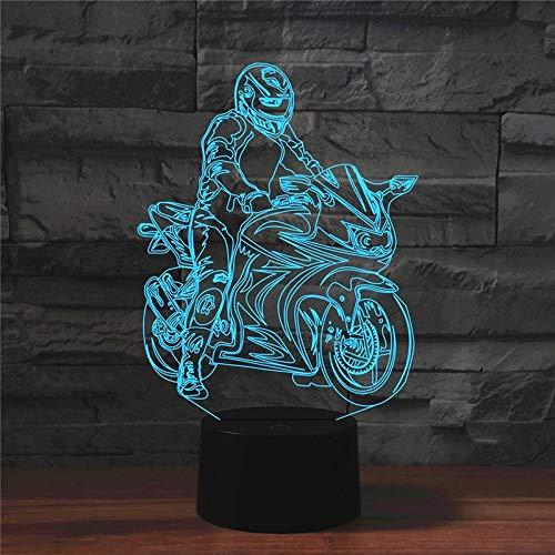 CZ Motorrad Form 3D bunte LED Vision Licht Tischlampe 16 Farben Fernbedienung Version Leistung: 0,5 W