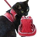 猫用ハーネス ダブルブロックタイプ Mサイズ ゴロにゃんオリジナル ストロベリーレッド Mサイズ