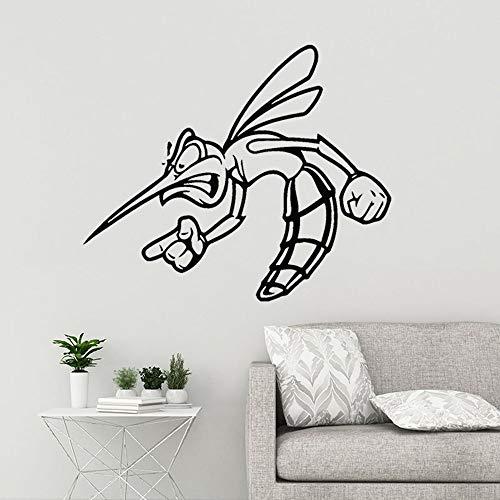 Tianpengyuanshuai Vinyl Wandaufkleber lustige Mücke Insekt Tier finstere Aufkleber abnehmbare Heimdekoration 43X36cm
