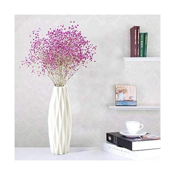 Jarrones de plástico de 123 Life para flores, florero decorativo moderno duradero para sala de estar, oficina…