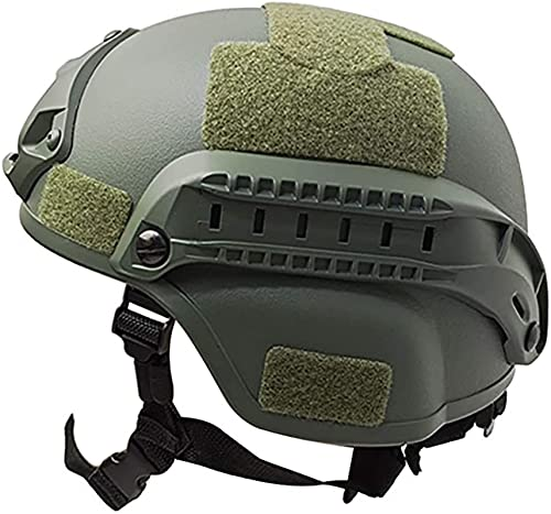 SKYWPOJU Máscara táctica de Airsoft/Casco de Paintball táctico Tipo PJ con Modo de Transporte Doble para Equipo de protección de Airsoft Paintball, Halloween, Cosplay (Color : Armygreen)