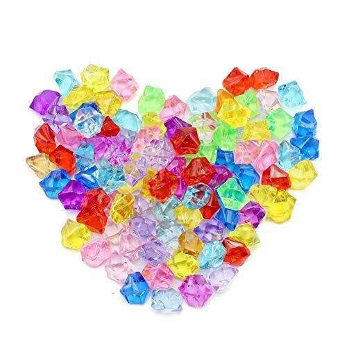 Gemas Acrilicas, Gemas Acrílicas de Colores en Forma de Diamante, Gemas De Plastico Piedras De Colores Niños Joyas Acrílico Ideal para Juguetes para Niños,Vistas A La Piscina,jarrones