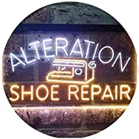 Alteration Shoe Repair Dual Color LED看板 ネオンプレート サイン 標識 白色 + 黄色 300 x 210mm st6s32-i3501-wy
