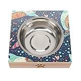Cuencos de comida para gatos antideslizantes para perros Alimentos para mascotas Tazones Delfín Shallow Cat Water Bowl Alimentación para gatos Cuencos anchos de Pet Bowl de perros Gatos Cachorro
