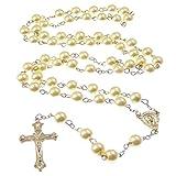 Zoom IMG-2 lunghezza bianco metallo cattolica rosari