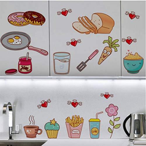 MMLFY Muursticker, eenvoudige waterdichte aluminiumfolie, hittebestendig, oliebestendig, keuken, tegels, muursticker, servies, sticker, decor