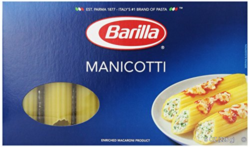 Barilla Pasta, Manicotti, 8 Ounce (Pack of 4)