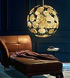 APBEAMLighting Modern Crystal Sputnik Chandeliers Gold Pendant Light Dandelion Light Fixture for Bedroom Foyer Closet (9-Light)